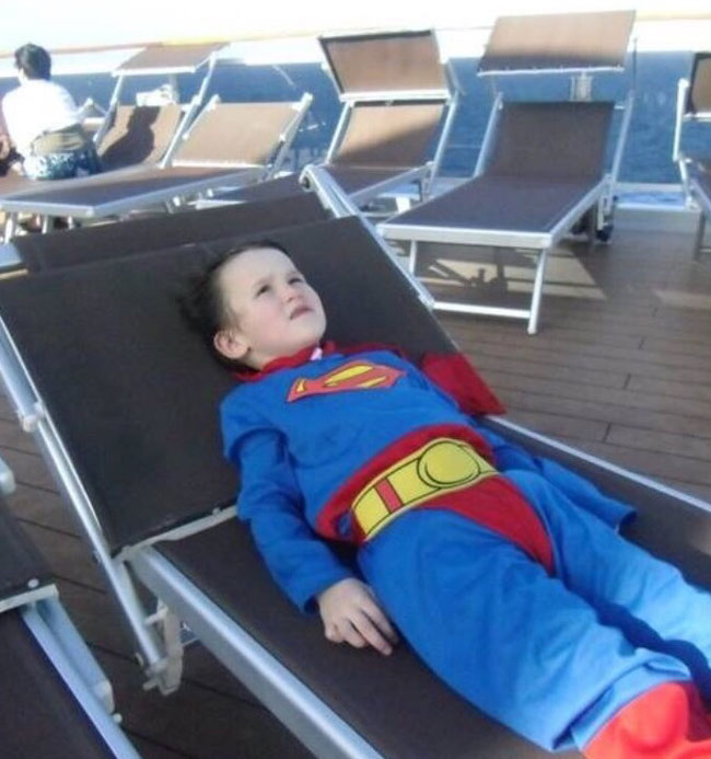 My cousin on a cruise ship, after 3 hours of being totally convinced he could fly with the suit, lays down for a moment and has his first existential crisis