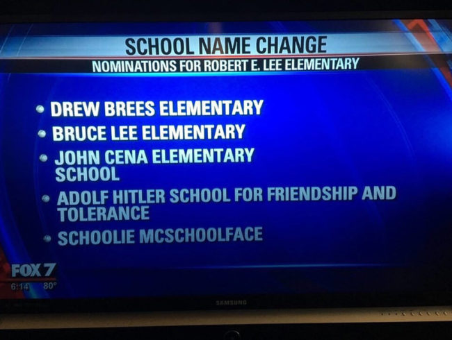 School creates a poll to decide on a new name