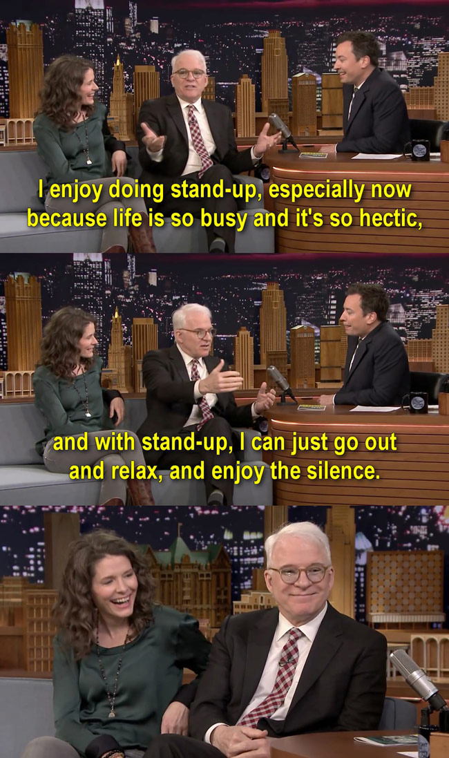 Steve Martin on stand-up