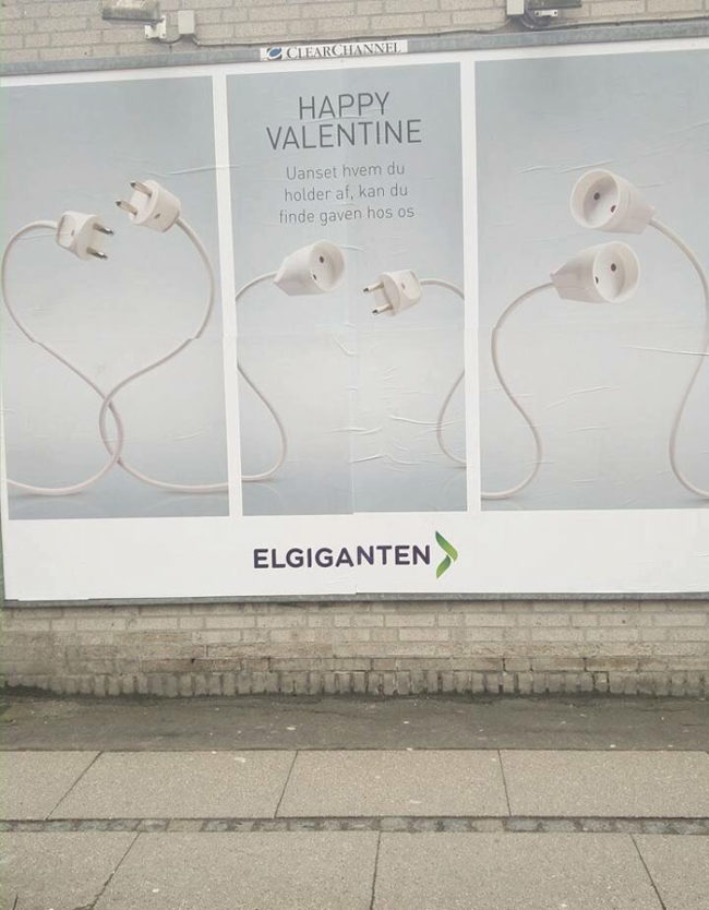 Happy Valentine from the electronics store