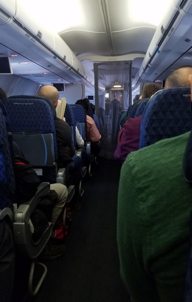 "First classer said loud enough for us lowlives to hear, ""umm I pay to be separated from economy, can you please out up the privacy screen""...Needless to say, there were audible laughs from economy"