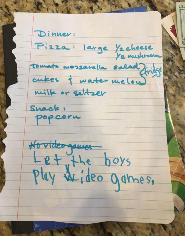 No Video Games! - My sister's 6 year old twins had different plans for when Grandma came over to babysit them