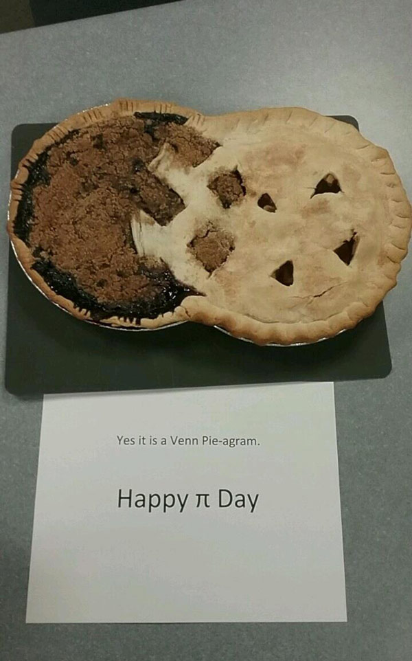 Someone in my office got crafty for Pi Day