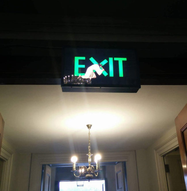 This exit sign at a church