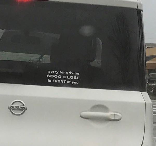 "Canadian for ""stop rid'n my ass"""