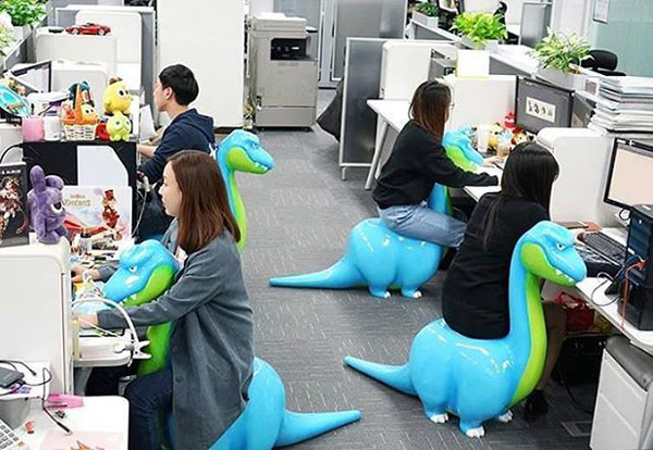 Computer chairs in Japan!