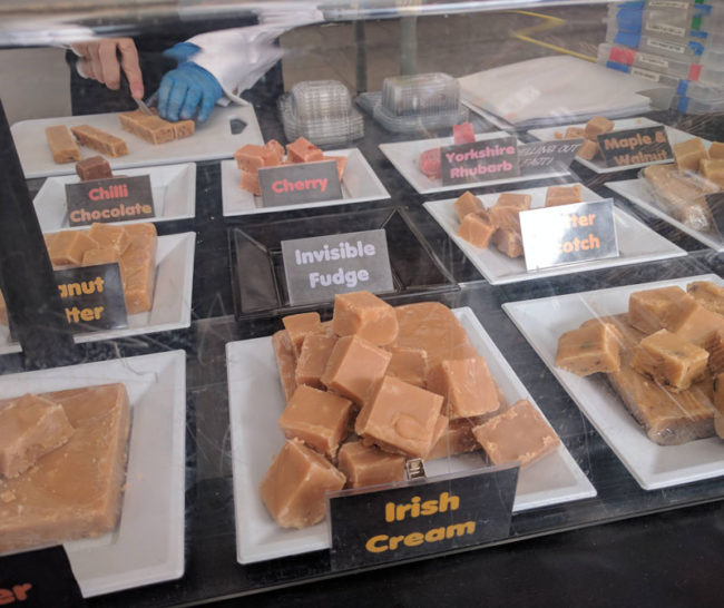 The fudge man came up with an option for people who asked for dairy / sugar free fudge
