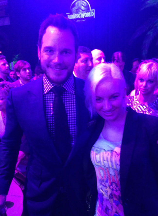 My wife met Chris Pratt....Anna Faris didn't approve