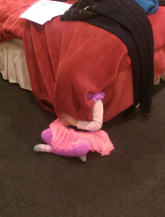 Playing hide and seek with my niece