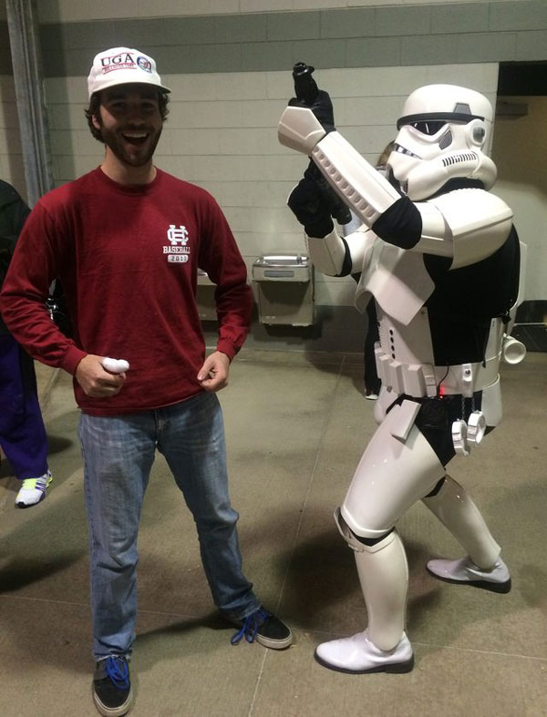 I asked this Stormtrooper to aim at me for the picture