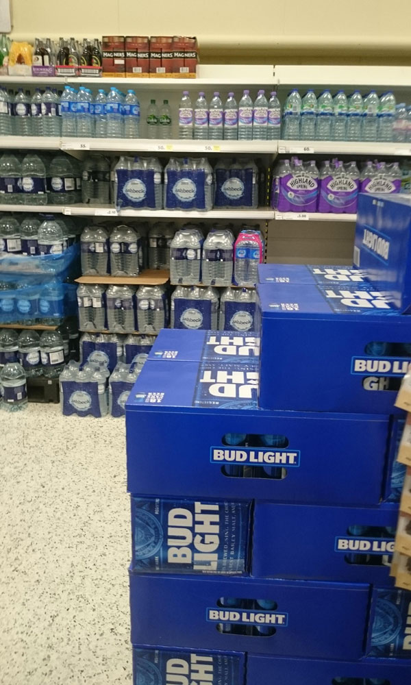 We've started getting Bud Light in the UK. My local supermarket is keeping it next to the water