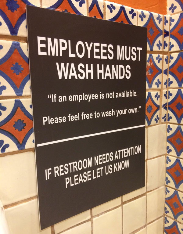 Found this sign in a Chili's restroom