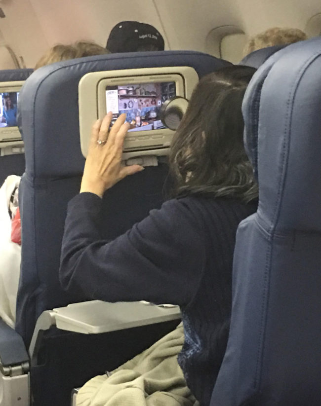 Little old lady on my flight brought a magnifying glass to play the in-flight Eye Spy game