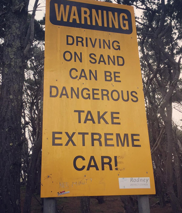 Driving on sand..