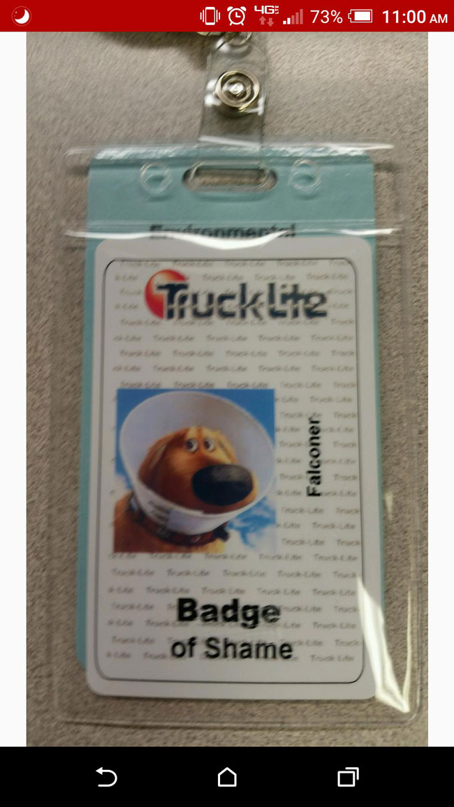 This is what happens when you forget your work badge