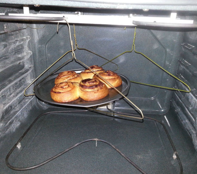 Moved into a new apartment. The previous guy took his oven racks. Where there's a will, there's a way