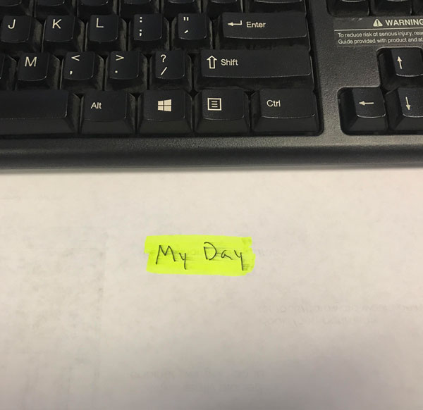 "My boss told me she left something special on my desk, and that it would be the ""highlight of my day"""