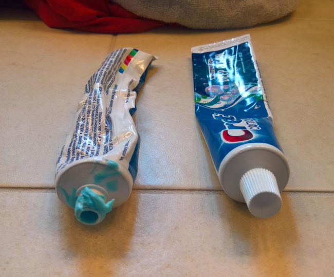 This is why my girlfriend and I use separate toothpaste tubes