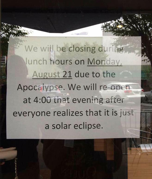 Closing for the Apocalypse