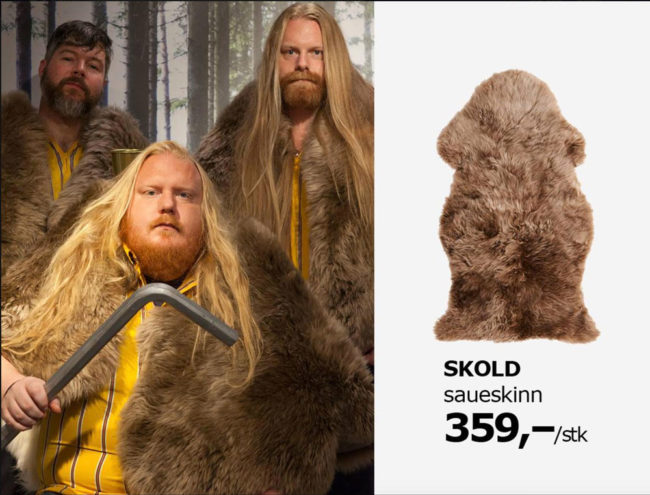 Employees of IKEA Furuset in Oslo, Norway posted this after they found out furs from IKEA were used in costumes in Game Of Thrones
