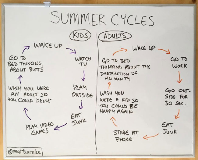 Summer day cycles