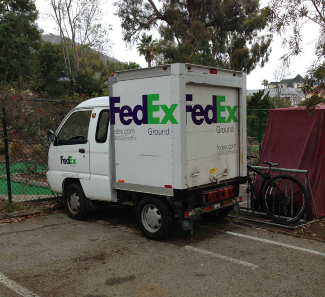 The FedEx Truck on Catalina Island
