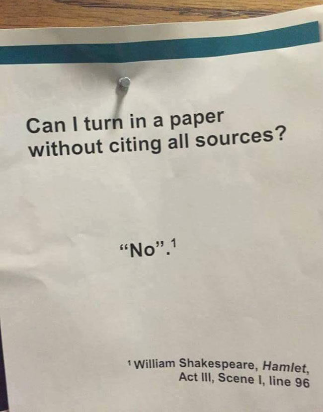 Always cite your sources