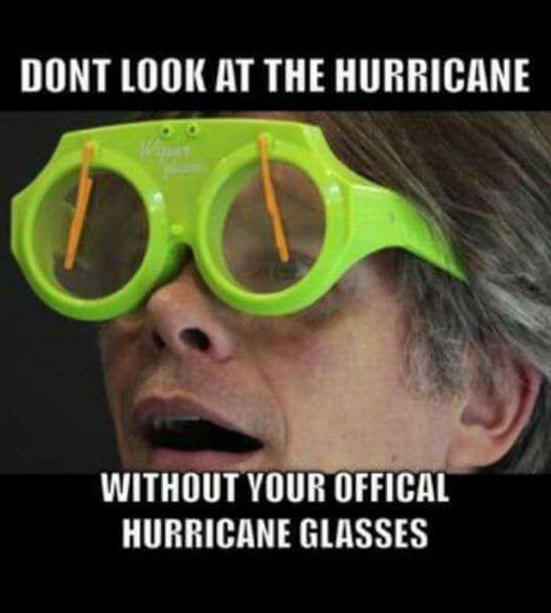 Don't look at the hurricane..