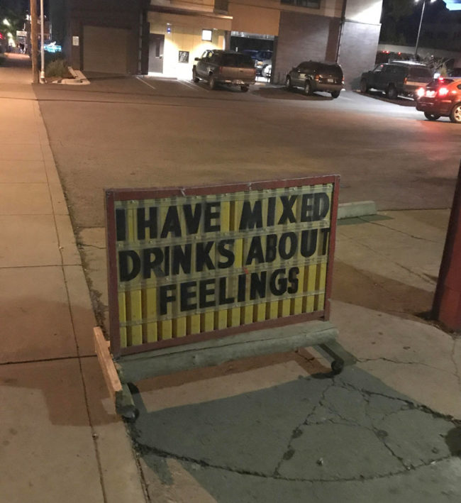 This liquor store sign in Durango, CO