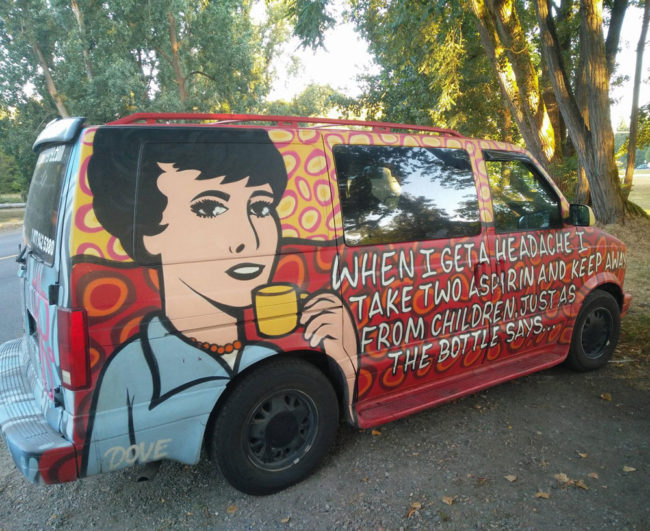 Spotted this cool van on a morning walk