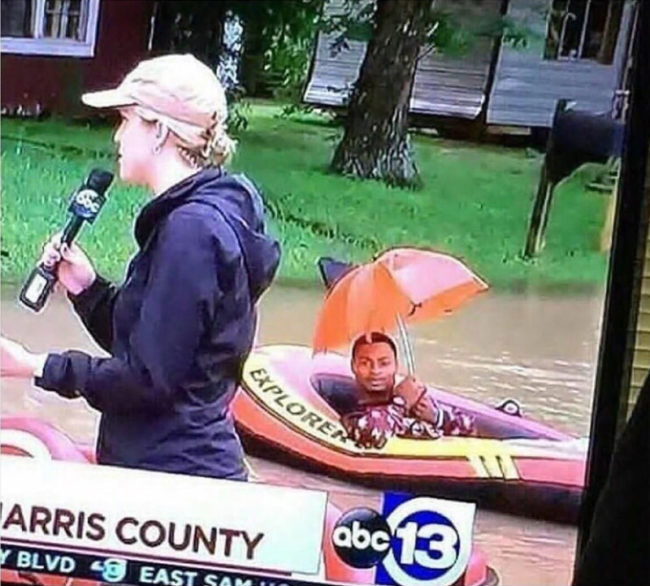 Nice to see people in Texas are handling the hurricane well