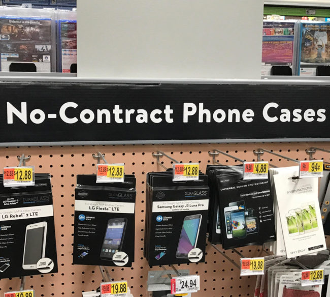 For those of you with bad/no credit, Walmart now offers phone cases without a contract