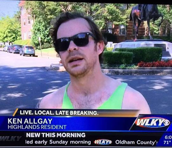 Friend's last name is Allday, but that's not what the local news heard