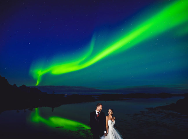 Huge solar storm made my wedding photos EPIC