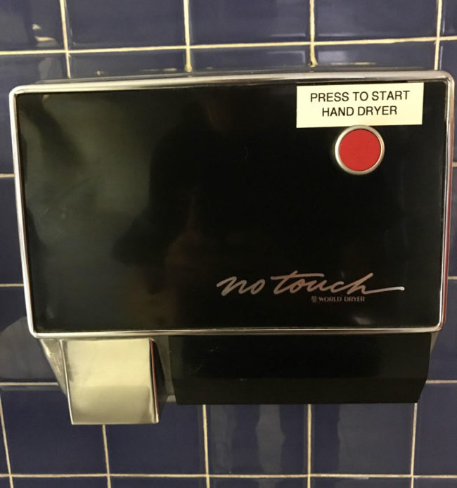 No touch hand dryer..