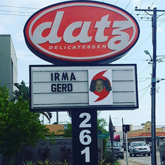 Restaurant sign in Tampa, FL