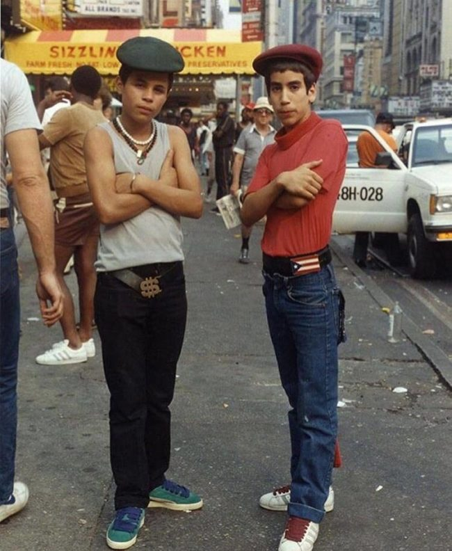 The hip-hop scene in Brooklyn, New York. Circa 1980s