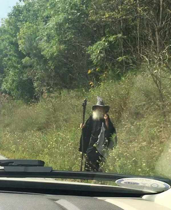This wizard hangs out on the side of the road in western pa
