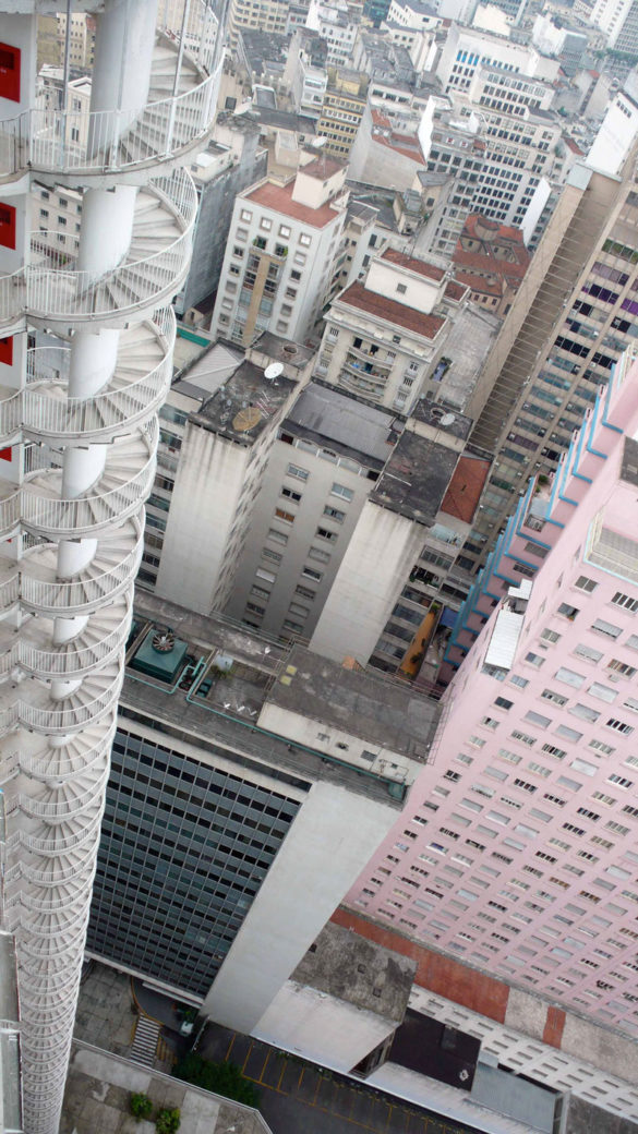 In Brazil, there's an apartment building with a 40 storey spiral staircase fire escape