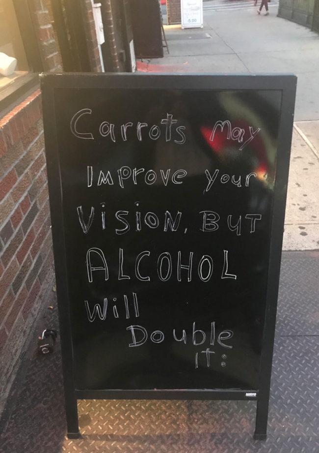 Carrots may improve your vision, but..