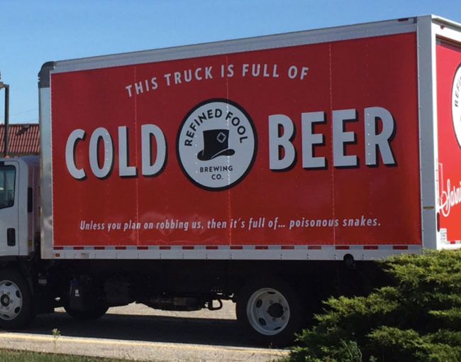 My local brewery just purchased a new transport truck