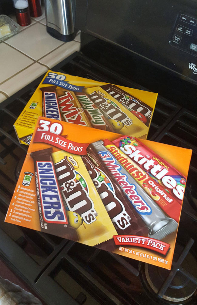 Finally able to fulfill a promise to my younger-self. We are handing out full size candy bars this year!