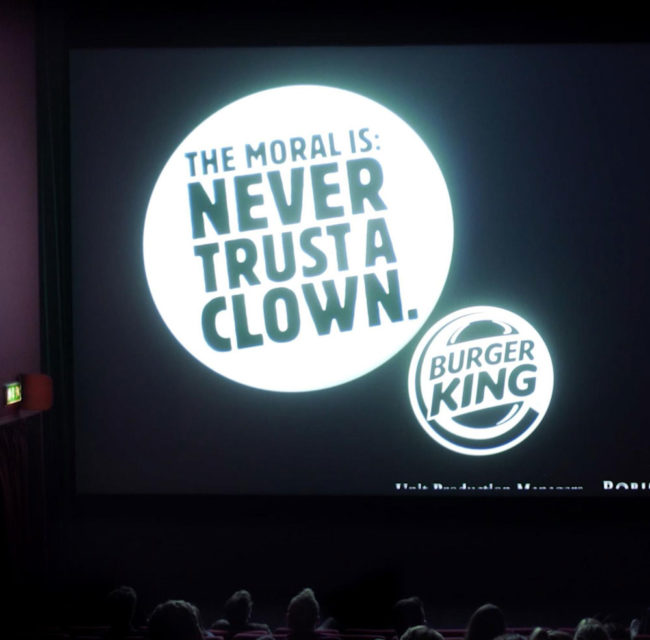 "Burger King used ""It"" to throw major shade at McDonalds"