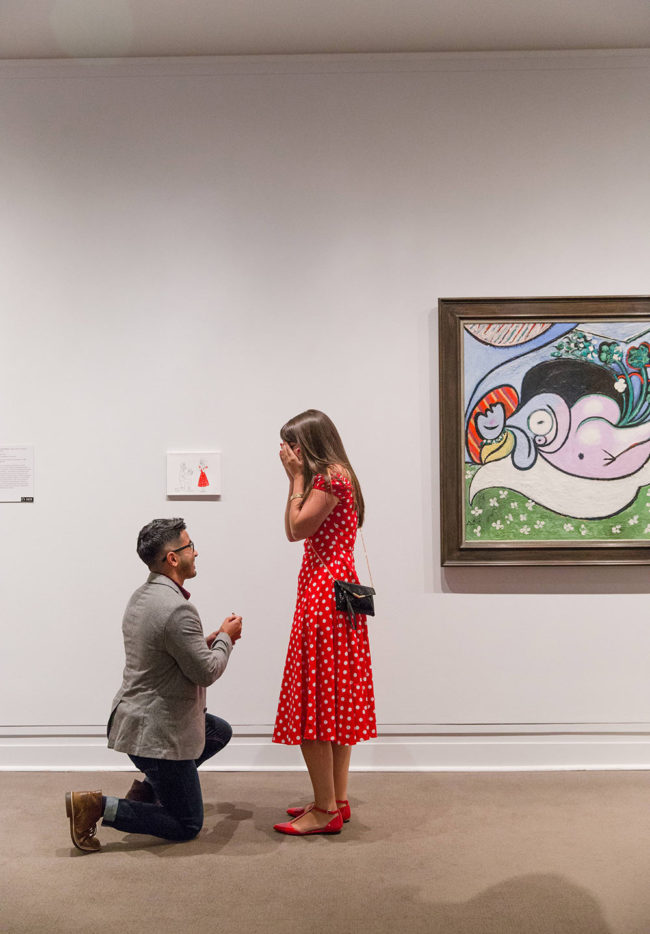 I proposed to my girlfriend by hanging a painting in the Met