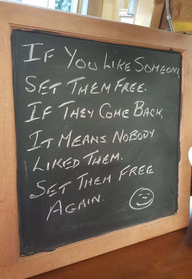 If you like someone set them free...