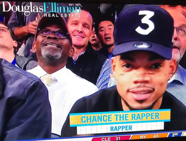 Just in case you weren't sure what Chance the Rapper did for a living