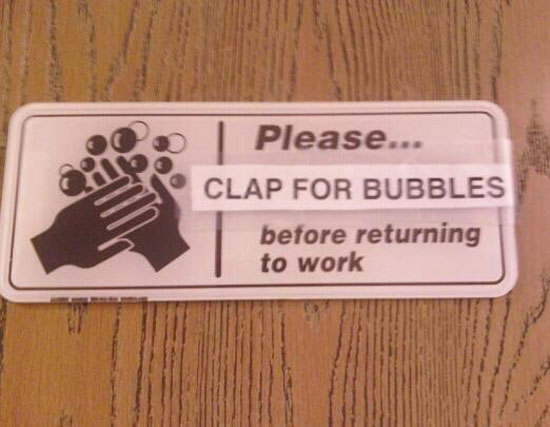 Bubbles for staff morale
