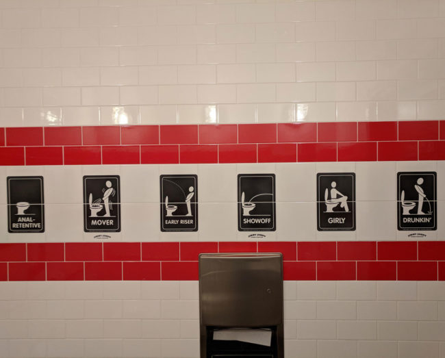 This Jimmy John's restroom