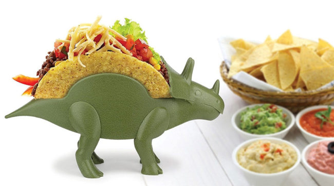 Sure you can live without a triceratops taco holder... But do you WANT to?