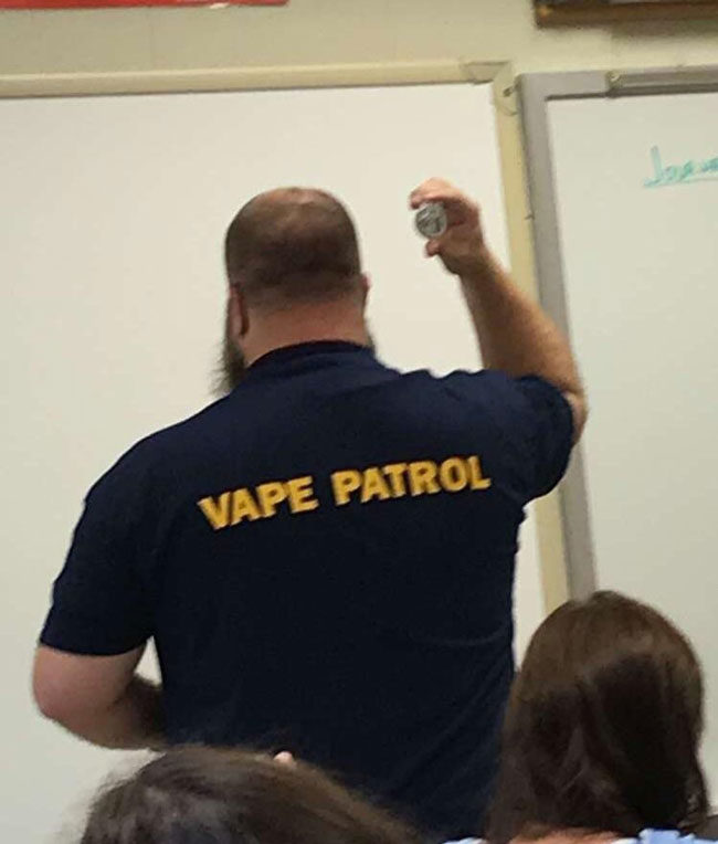 "My school is taking the vaping ""problem"" a bit too seriously..."